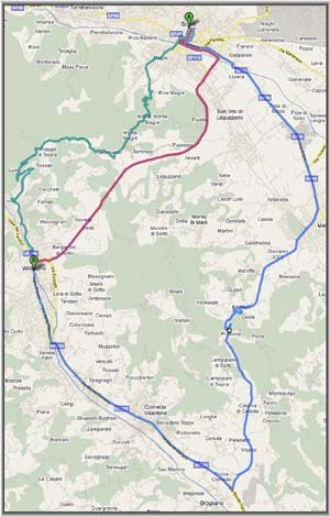 Mappa ingrandita